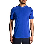 Mens Brooks Cadence Short Sleeve Technical Tops - Heather Royal M