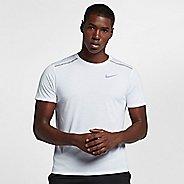 Mens Nike Breathe Rise 365 Short Sleeve Technical Tops - White L
