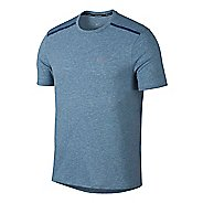 Mens Nike Breathe Rise 365 Short Sleeve Technical Tops - Blue Force M