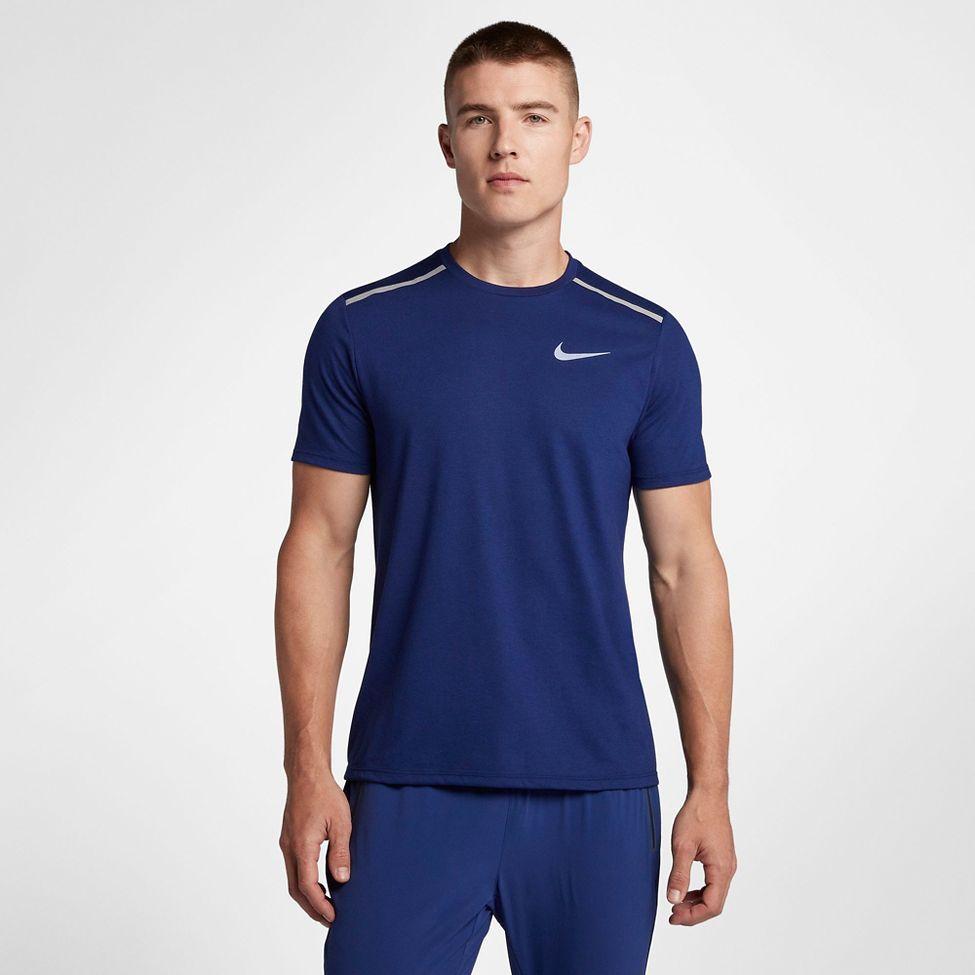 94345e7da Mens Nike Breathe Rise 365 Short Sleeve Technical Tops at Road ...