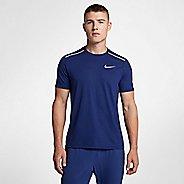 Mens Nike Breathe Rise 365 Short Sleeve Technical Tops - Blue Void S