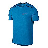 Mens Nike Breathe Rise 365 Short Sleeve Technical Tops - Equator Blue S