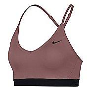 Womens Nike Pro Indy Sports Bra - Smokey/Mauve L