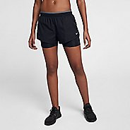 Womens Nike Flex Elevated 2-in-1 Track Shorts - Black L