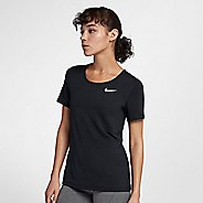 Womens Nike Pro All Over Mesh Short Sleeve Technical Tops - Black L