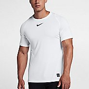 Mens Nike Pro Fitted Short Sleeve Short Sleeve Technical Tops - White M