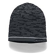 Mens Under Armour Reversible Graphic Beanie Headwear - Black/Black