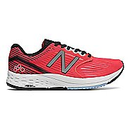 Womens New Balance 890v6 Running Shoe - Coral/Black/Sky 10