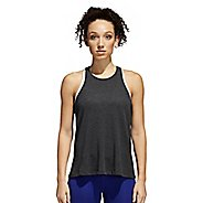 Womens adidas Performance Open Back Sleeveless & Tank Technical Tops - Black/White M