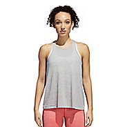 Womens adidas Performance Open Back Sleeveless & Tank Technical Tops - Medium Grey Heather L