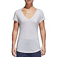 Womens adidas Winners Tee Short Sleeve Technical Tops - White M