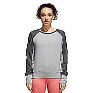 Womens adidas Performance Long Sleeve Crew Technical Tops - Grey/Dark Grey S