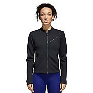 Womens Adidas Performance Moto Casual Jackets - Black/Carbon M