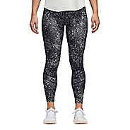Womens adidas How We Do Printed 7/8 Tight Crop Pants - Black L