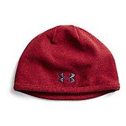 Mens Under Armour Survivor Fleece Beanie Headwear - Raisin Red