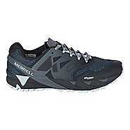 Womens Merrell Agility Peak Flex 2 E-Mesh Trail Running Shoe - Black/Light Blue 10
