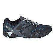 Womens Merrell Agility Peak Flex 2 E-Mesh Trail Running Shoe - Black/Light Blue 6