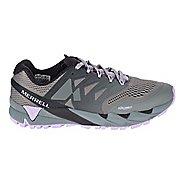 Womens Merrell Agility Peak Flex 2 E-Mesh Trail Running Shoe - Black/Light Blue 10