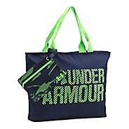 Womens Under Armour Big Wordmark Tote 2.0 Bags - Midnight Navy/Lime