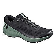 Mens Salomon XA Elevate Trail Running Shoe - Black/Green 11.5
