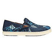 Womens OluKai Pehuea Print Casual Shoe - Trench Blue/Blue 6.5
