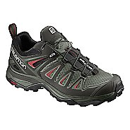 Womens Salomon X Ultra 3 Hiking Shoe - Grey/Red 10