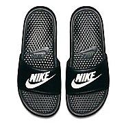Mens Nike Benassi Sandals Shoe - Black/White 12