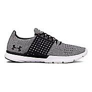 Mens Under Armour Speedform Slingwrap Running Shoe - Black/White 7.5