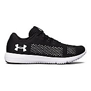 Womens Under Armour Rapid Running Shoe - Black/White 5.5