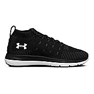 Womens Under Armour Slingflex Rise Running Shoe - Black/White/Silver 10