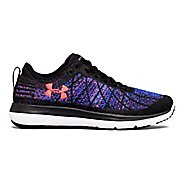 Womens Under Armour Threadborne Fortis Running Shoe - Black/Blue 10