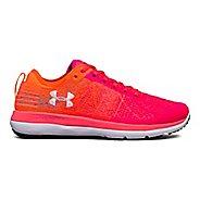 Womens Under Armour Threadborne Fortis Running Shoe - Pink/Magma Orange 6.5