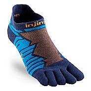 Injinji Ultra Run No Show CoolMax Socks - Blue L