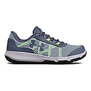 Womens Under Armour Toccoa Trail Running Shoe - Solder/Grey 8