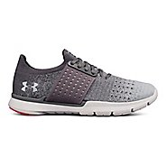 Womens Under Armour Speedform Slingwrap Fade Running Shoe - Graphite/Grey 8.5