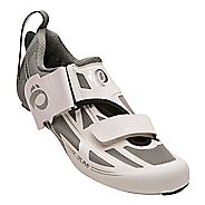 Womens Pearl Izumi Tri Fly Elite V6 Cycling Shoe - White/Silver 5.5