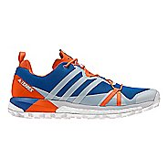 Mens adidas Terrex Agravic Trail Running Shoe - Blue/Grey/Orange 11.5