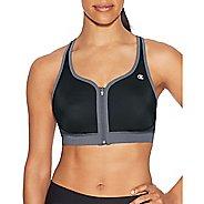 Womens Champion The Absolute Zip Sports Bras - Black/Medium Grey S