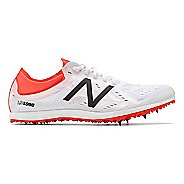 Womens New Balance LD5Kv5 Track and Field Shoe - White/Flame/Black 10