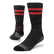 Mens Stance Training Uncommon Solids Crew Socks - Black L