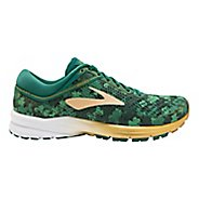 Womens Brooks St Pattys Day Launch 5 Running Shoe - Green/Gold 8