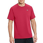 Mens Champion Vapor Select Tee Short Sleeve Technical Tops - Scarlet L