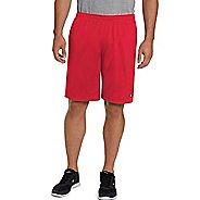 Mens Champion Long Mesh with Pockets Unlined Shorts - Crimson 4XL