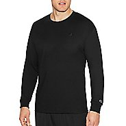 Mens Champion Classic Jersey Tee Long Sleeve Technical Tops - Black XL