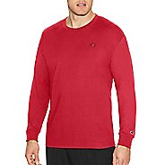Mens Champion Classic Jersey Tee Long Sleeve Technical Tops - Scarlet M