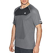 Mens Champion Outdoor Training Tee Short Sleeve Technical Tops - Oxford Grey L