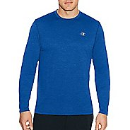 Mens Champion C Vapor Heather Tee Long Sleeve Technical Tops