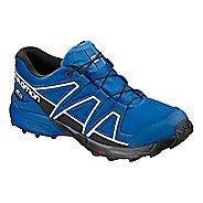 Kids Salomon Speedcross CSWP J Trail Running Shoe - Indigo/Sky/White 13C