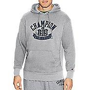 Mens Champion Heritage Fleece Pullover Hood Half-Zips & Hoodies Technical Tops - Oxford Grey M