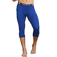 Mens Champion Power Flex 3/4 Capris Tights - Surf The Web Blue L